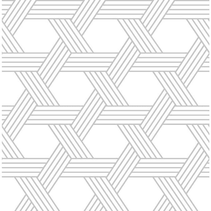 Scott Living 30 75 Sq Ft Silver Vinyl Geometric Self Adhesive Peel And Stick Wallpaper Lowes Com Self Adhesive Wallpaper Peel And Stick Wallpaper Wallpaper Samples