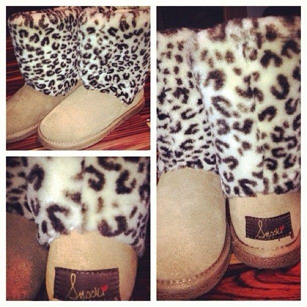 Snooki leopard snow boots.
