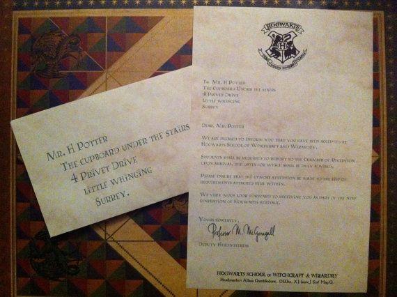 Harry Potter Hogwarts Acceptance Letter Bradey S 11th