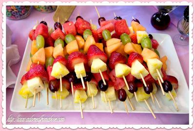 Adorned From Above: Fruit Skewers for a Baby Shower