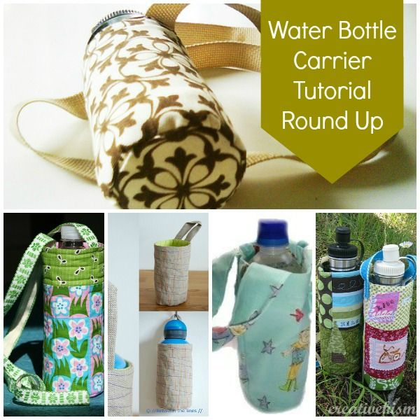 Time to start getting ready for summer camp! Water bottle carrier tutorial round up // patchwork posse