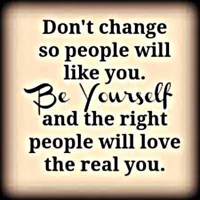 Dont change for anyone.  Inspirations & Quotes  Pinterest
