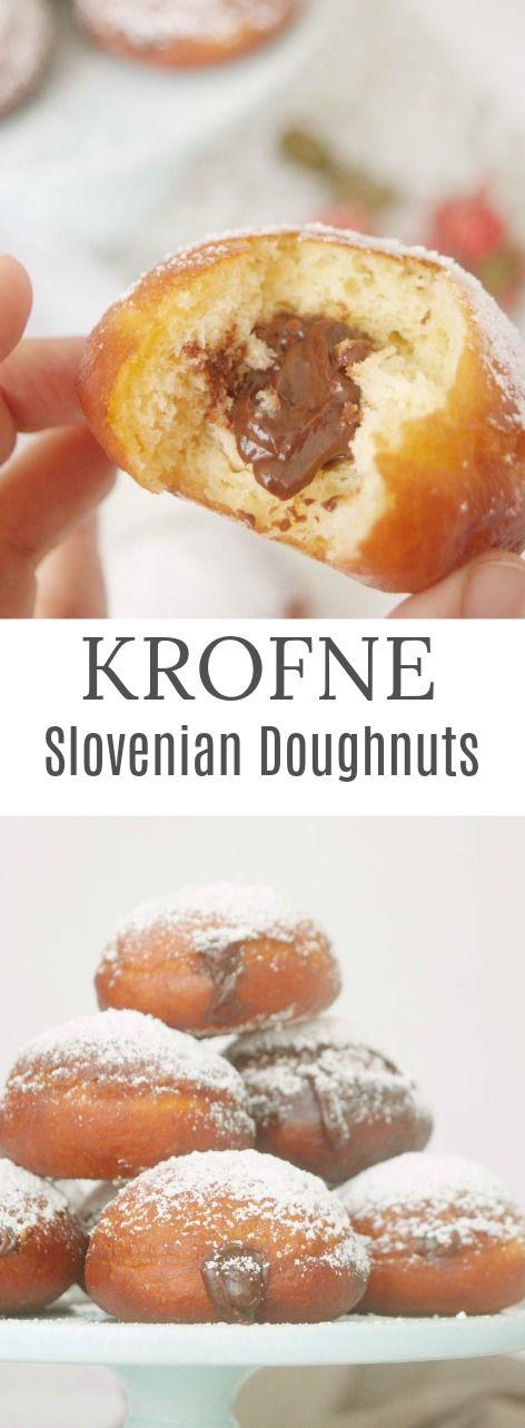 Slovenian Krofne: doughnuts filled with chocolate ganache - How-to and photos in Patty's Cake Más sencillos de lo que parecen estos donuts de Eslovenia.