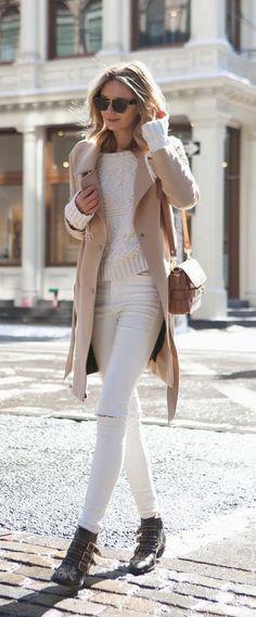 #fall #fashion / blanc + camel coat