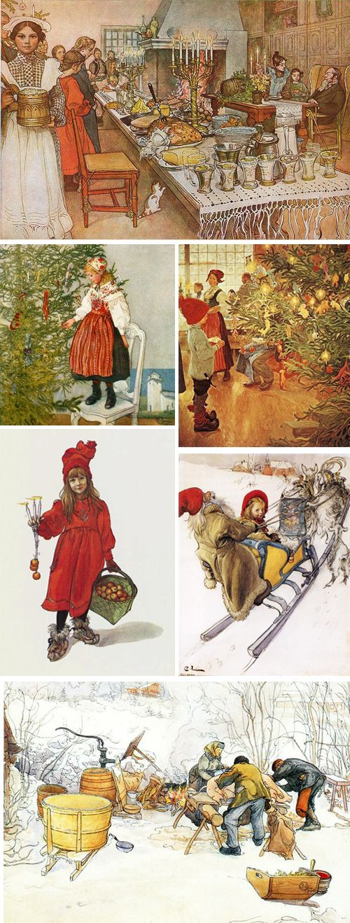Carl Larsson's Illustrations. His line and color are captivating. Swedish artist.