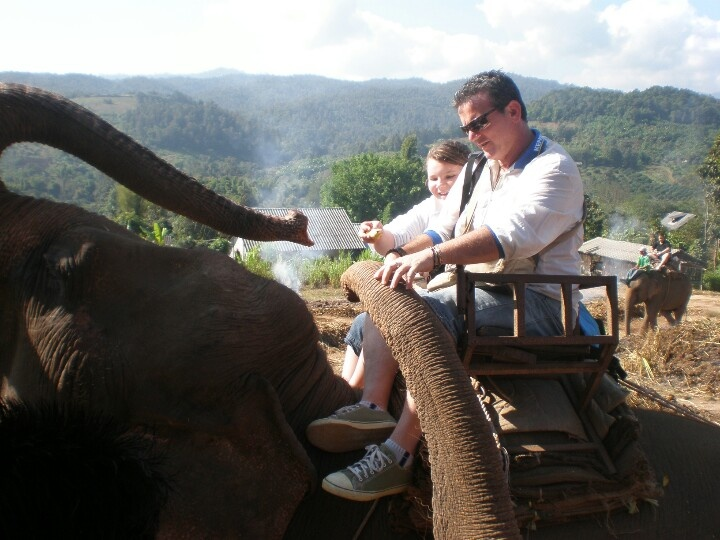 Elephant ride - Chiang Mai, Northern Thailand