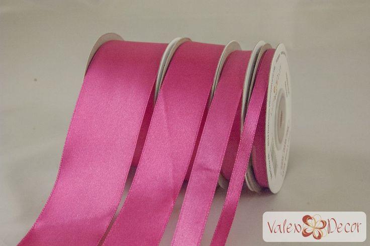 Szatén szalag 6mm x 25y - Sötét rózsaszín - Valex Decor Kft. | Virágkötészeti…