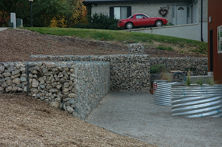 Gabion Wall Design Drawings : Best images about gabion on planters civil