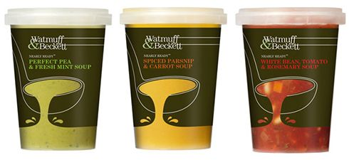 Pencil Design's 2011 design for Watmuff & Beckett soup containers