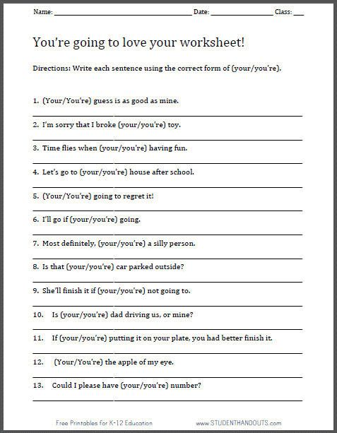 All Worksheets » Free Middle School Language Arts Worksheets ...