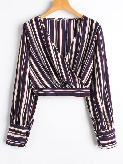 OBTENIR 50 $ MAINTENANT | Rejoignez Zaful: obtenez vos 50 $ MAINTENANT!https://fr-m.zaful.com/striped-slit-sleeve-cropped-surplice-blouse-p_389753.html?seid=5456806zf389753