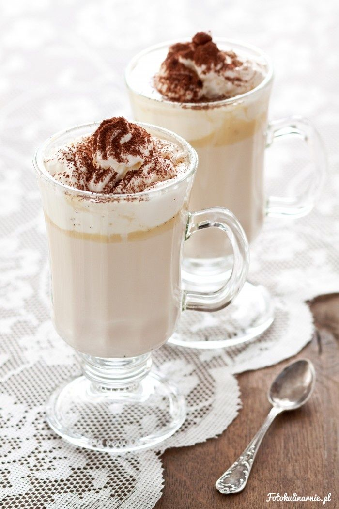 Hot White Chocolate with Coffee Liqueur