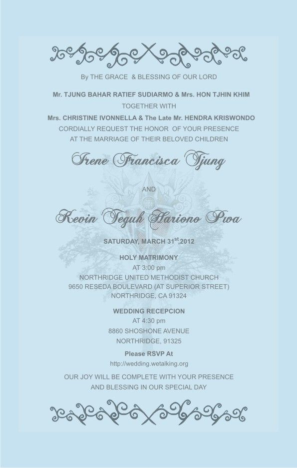 Wedding Invitation In English Wordings: Wedding Card Sample In English
