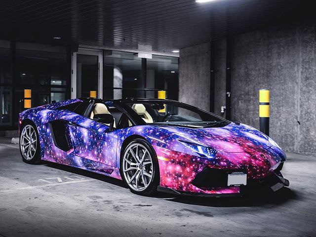 Galaxy-Wrapped Aventador Roadster will Take your Breath ...