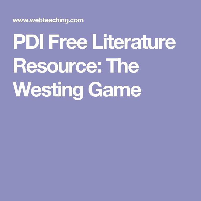 PDI Free Literature Resource: The Westing Game