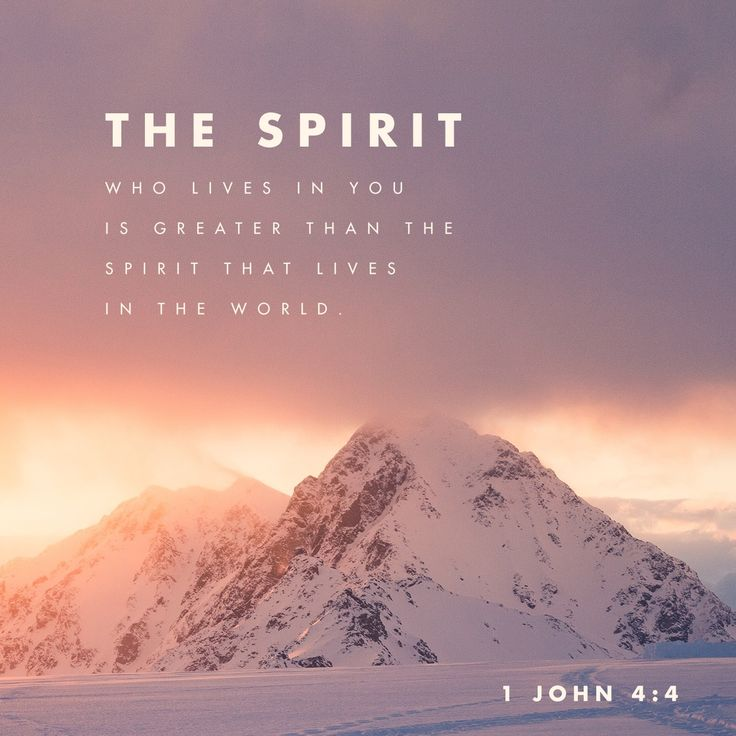 """""""You are from God, little children, and have conquered them, because the one who is in you is greater than the one who is in the world."""" 1 John 4:4 NET http://bible.com/107/1jn.4.4.net"""