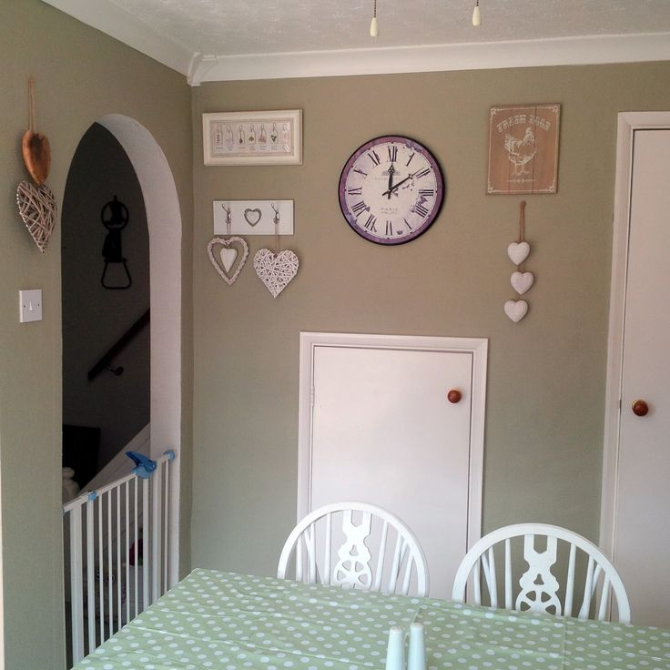 I used Dulux Overtly Olive matt emulsion for around the archway and one wall. I love the colour!