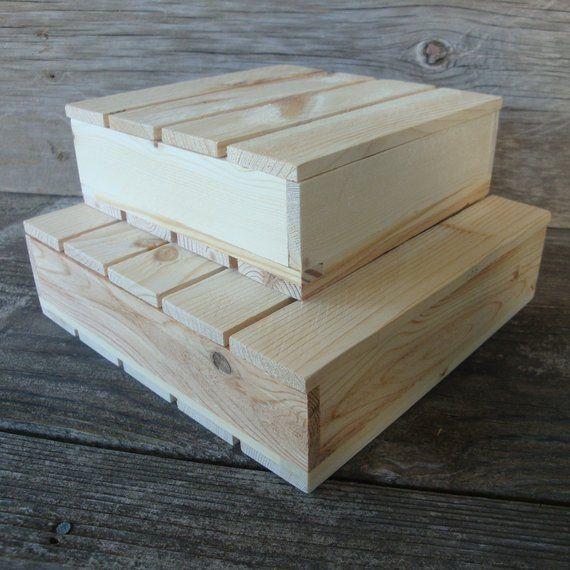 Keepsake Wood Covered Box Set Unfinished Boxes Organizing Box Reclaimed Wood Box Set Rustic Wood Rustic Wood Box Wood Boxes Covered Boxes