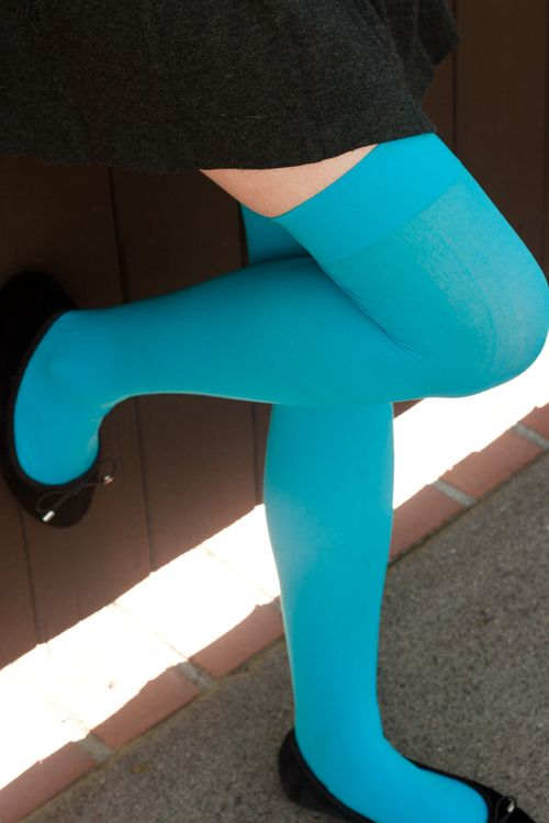 Opaque Nylon Stockings - Semi-opaque solid stockings, for when you want a bit…