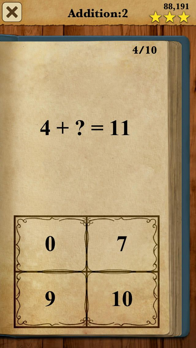 iPhone App King of Math: Full Game | Games | Education |  | 9  | $1.99 NOW FREE | Free today with 'App of the Day'.Level up your mathematics skills and become King of Math! King of Math is a fast-pac