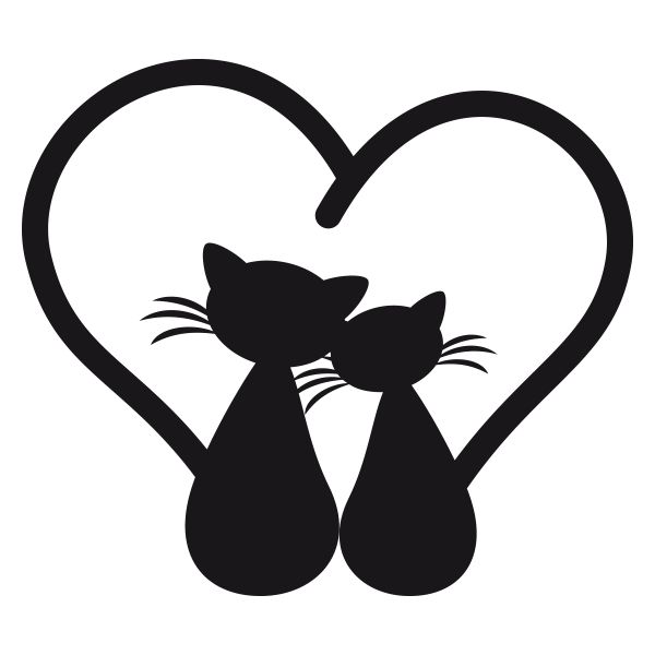 Sticker Chats amoureux | Fanastick.com