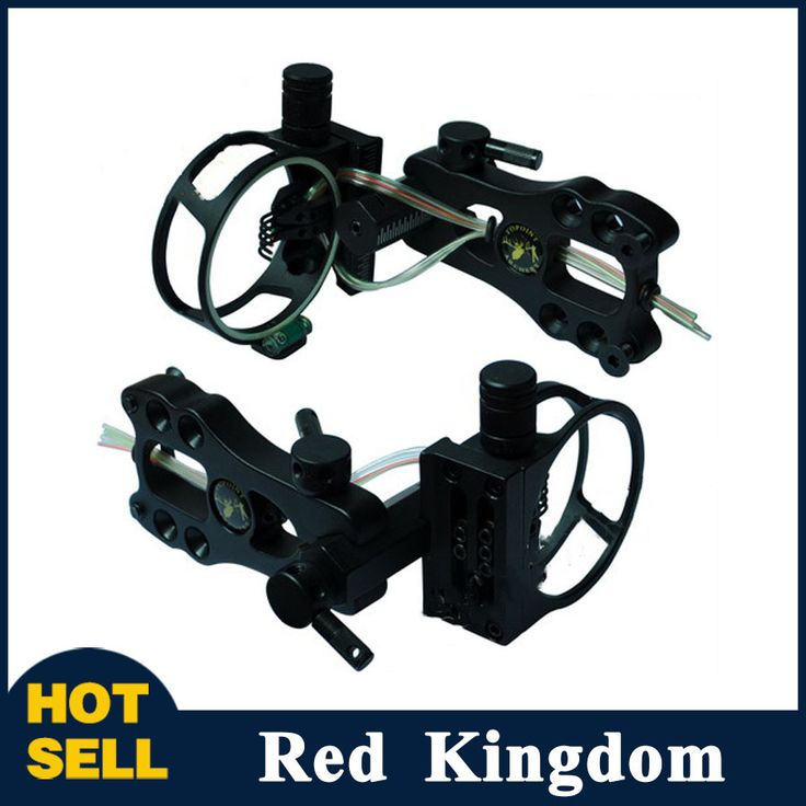 """Compound Bow Sight 5 Pins 0.019"""" Micro Adjustable with Sight Light Bow Sight TP4550 for Compound Bow Hunting Shooting Archery"""