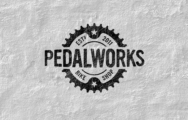 PedalWorks Bike Shop Logo by imjustcreative, via Flickr