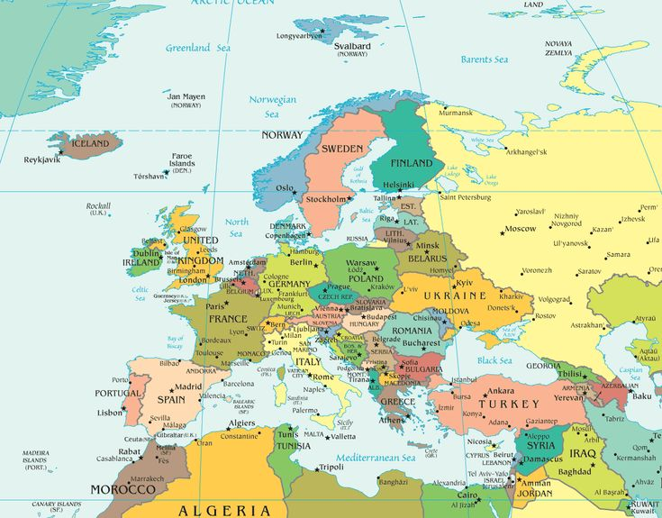Europa Karte Fotos