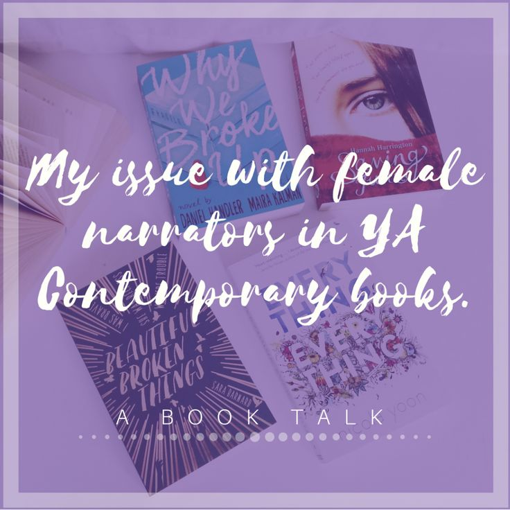 MY ISSUE WITH FEMALE NARRATORS IN YA CONTEMPORARY BOOKS