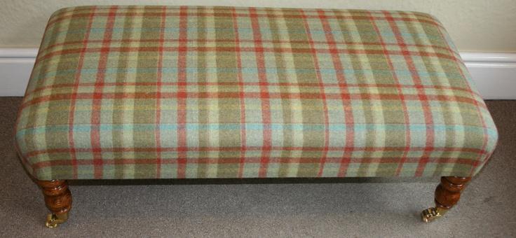 100% wool tartan Footstool/benchstool