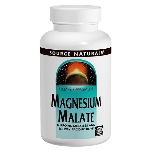 Magnesium Malate - Supports Energy Production - from Source Naturals - Energetic Nutrition