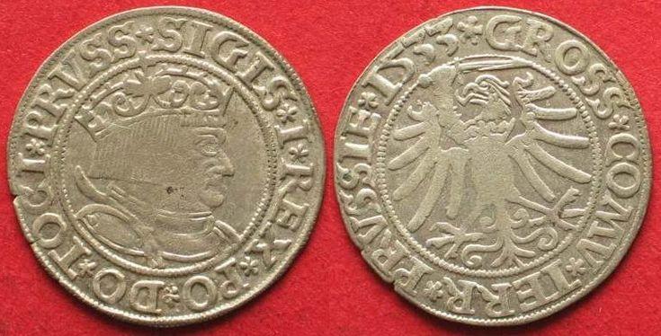 1533 Westpreussen WEST PRUSSIA Groschen 1533 SIGISMUND I of POLAND silver UNC!!! # 64262 UNC