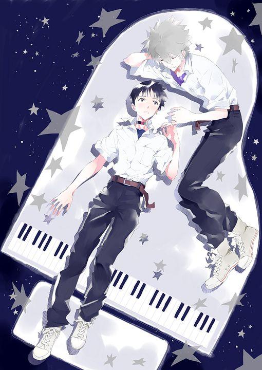 Kaworu x Shinji (Evangelion)