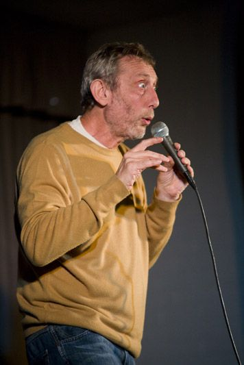 The inspirational Michael Rosen; a very clever man.