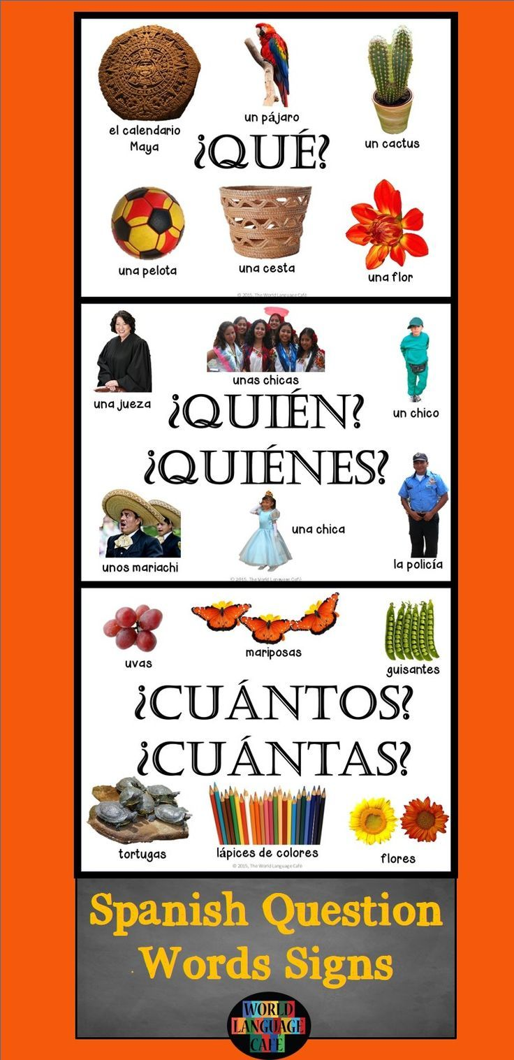 Spanish Question Words, Interrogatives Signs for the classroom.  Authentic Hispanic images help teach the tricky question words.  Spanish Question Words Unit also available.