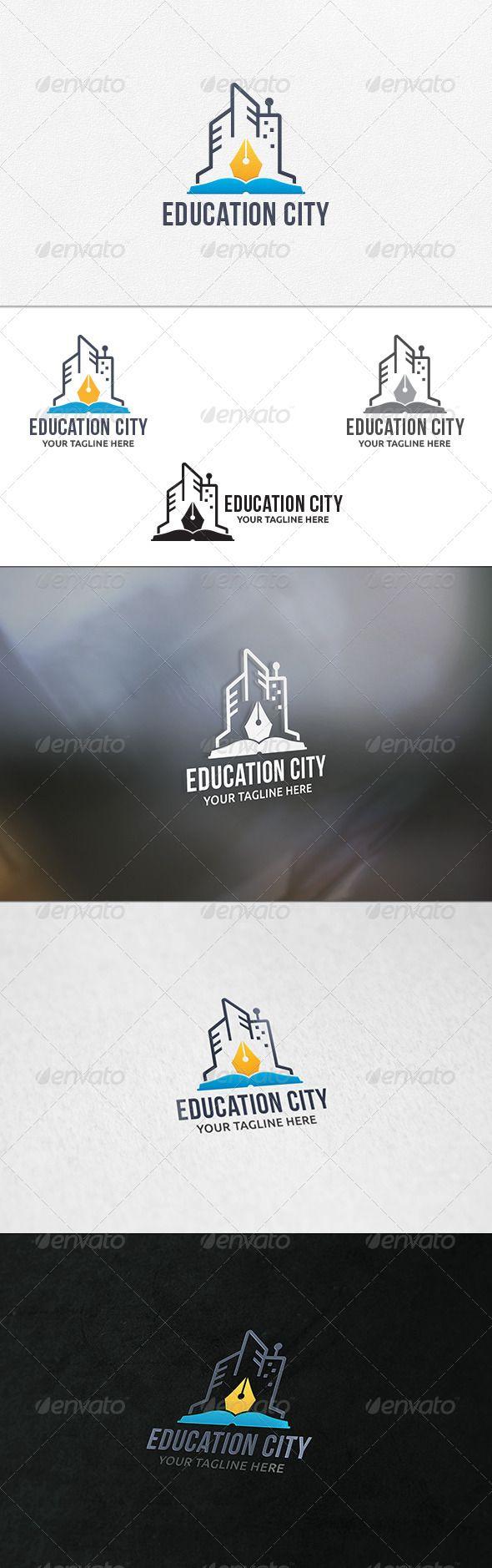 Education City  Logo Template — Vector EPS #city logo #city blogger • Available here → https://graphicriver.net/item/education-city-logo-template/7285598?ref=pxcr