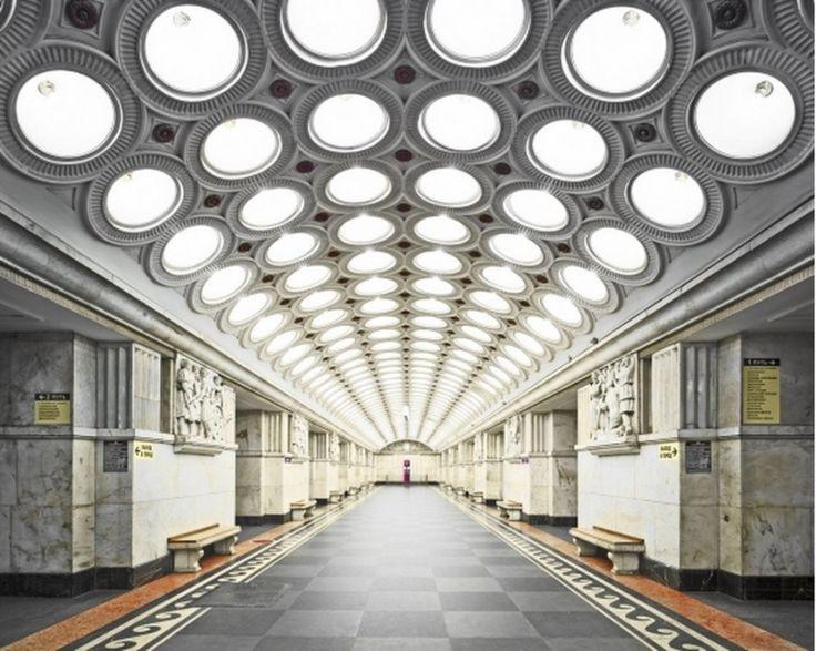 Moscow Underground, Elektrozavodskaya station by David Burdeny