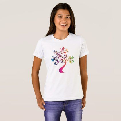 Colorful Floral Ornamental Tree Decorative T-shirt - diy cyo customize create your own personalize
