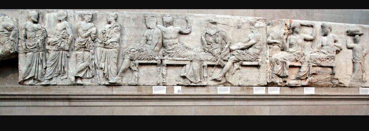 Particolare del fregio del Partenone - Fidia -  Marmo bassorilievo - V sec, a.C. - Periodo classico - Atene, Acropoli - Conservato oggi al British Museum di Londra