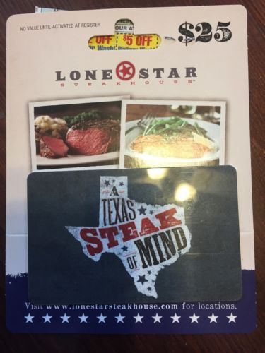 #Coupons #GiftCards $25.00 Lone Star Steakhouse Gift Card - Texas state of mind #Coupons #GiftCards