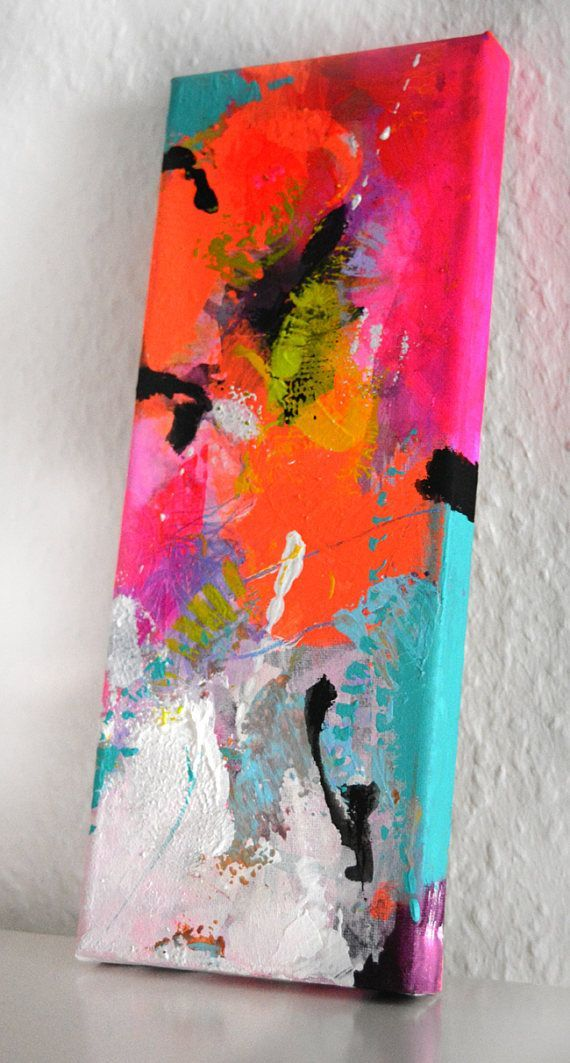 Title: Tipsy Colors 5 This is an original hand painted piece, no print. Orig
