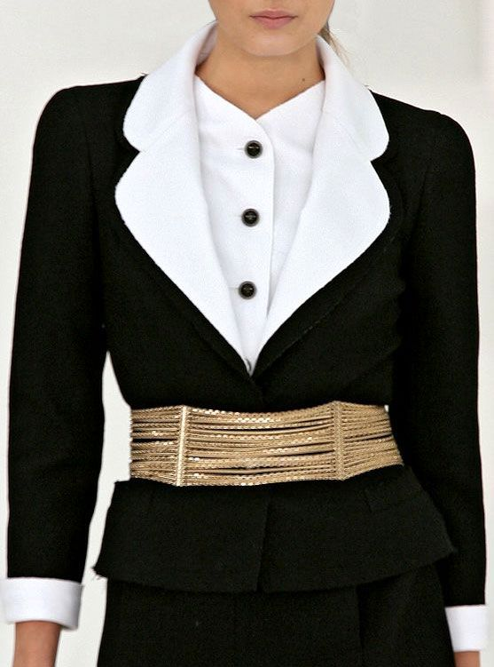 ♔  Chanel ~ Two piece classic black and white