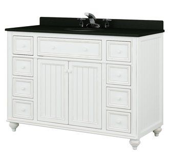 Image Gallery Website Shop for the Sagehill Designs Designer White Cottage Retreat Bathroom Vanity Cabinet Only with Drawers and save