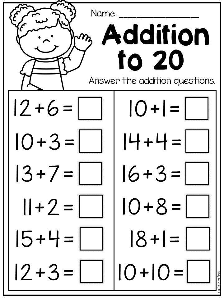 First Grade Addition And Subtraction Worksheets - Distance Learning  Kindergarten Math Worksheets Addition, Addition And Subtraction Worksheets,  Addition Worksheets First Grade