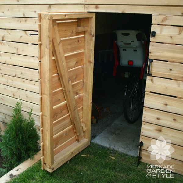 Keep all your tools tucked away by transforming the under-story of your deck into storage area.