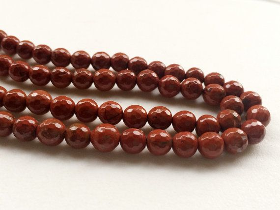 WHOLESALE 5 Strands Red Jasper Beads Natural Red by gemsforjewels