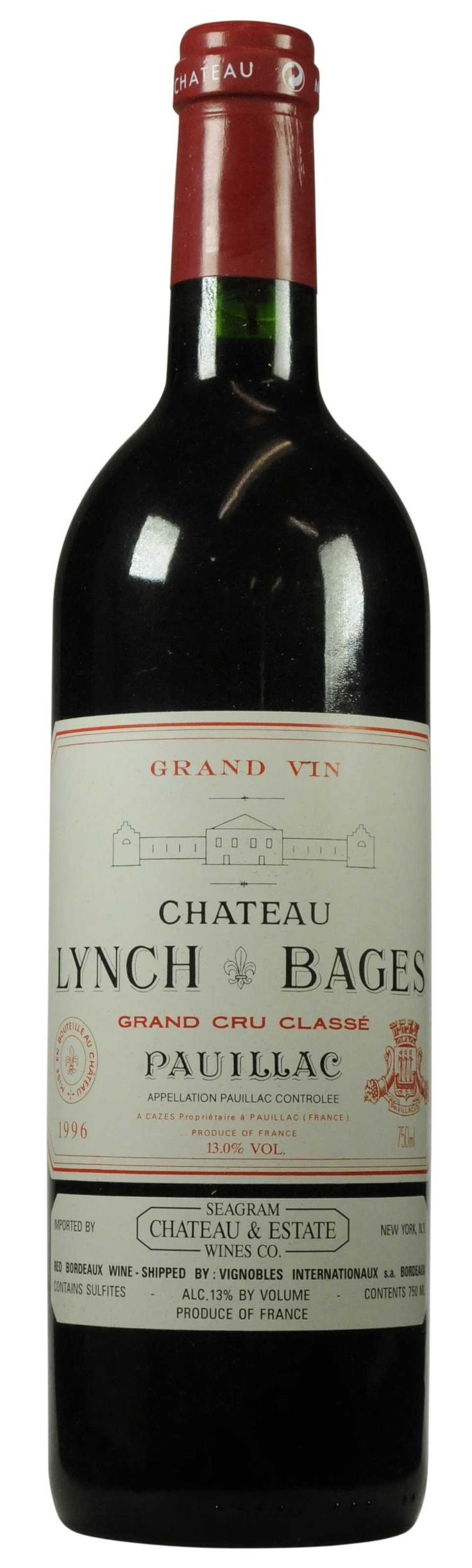 Château Lynch-Bages 1996  l Christie's Signature Cellars - Online Wine Auction New York Going on NOW- 18 February - 27 February...CLICK TO BID!