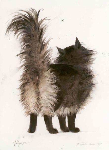 Portrait of cat. Elena Bazanova