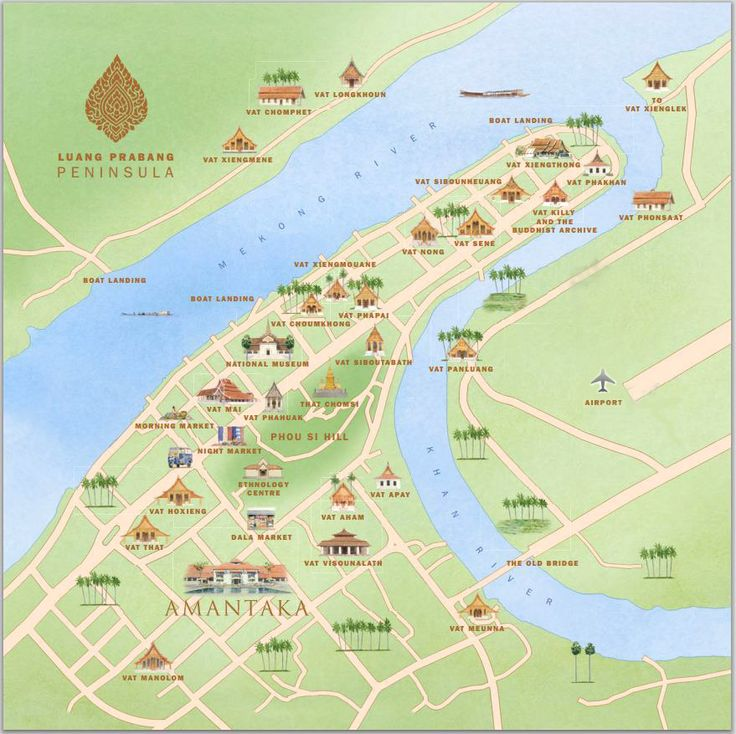 Luang Prabang tourist map