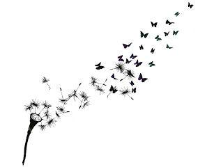dandilion tattoo   dandelion tattoo butterfly